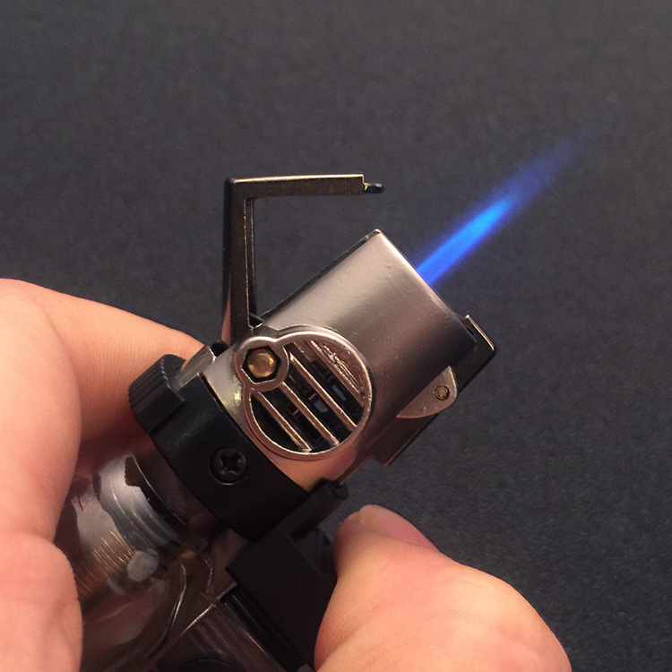 portable spray gun welding torch lighter key ring with turbo 1300 c windproof fire starter outdoor