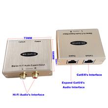 2-CH Stereo Hallo-fi Audio zu RJ45 Konverter RCA Audio zu Rj45 Adapter RCA RJ45 Audio extender Mit Beseitigen Lärm cheap MB-SHFEB T R MuxBOXS Kein 3280ft(1000M) 20 Hz to 20 KHz 1 0 Vp-p Less than 2 dB Greater than 60dB