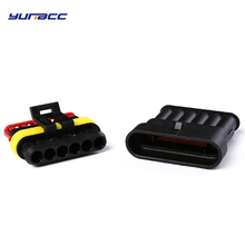 2sets 6Pins Male Female auto wire Connector superseal 1.5 Series Plug 282090-1 282108-1