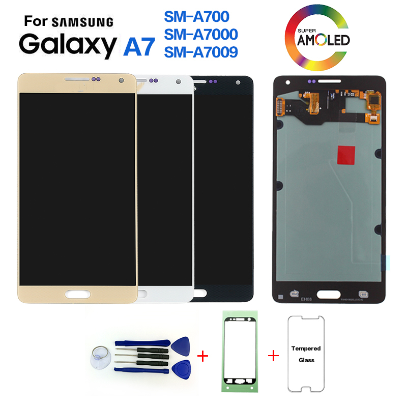 For Samsung A7 A700 A700F LCD Display Screen Replacement For Samsung A700FD A7000 A7009 Display LCD With Burn-Shadow
