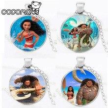 Фигурки Моана ожерелье весло Аниме Кулон ожерелье коллекция кулон Моана Мауи Пуа Моана Фигурки игрушки