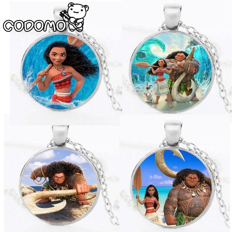 Action Figures Moana Necklace the Oar Pendant Anime Pendant Necklace Collection Pendant Moana Maui Maui Pua Moana Figures Toys oar toddler