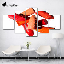 5 Pieces Liptips Beauty Salon Canvas Prints Painting Wall Art Modular Picture Modern Decorative Paintingsbedroom(China)