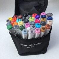 Touchnew sześć generacji alkoholu tłustej znak pióro 30 36 40 kolor studentów na bazie oleju ręcznie malowane garnitury grzywny markery rysunki manga