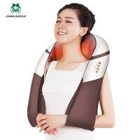 JinKaiRui U форма электрические шиацу сзади массаж шеи и плеч средства ухода за кожей инфракрасный 4D разминание биение постукивая стук массажер