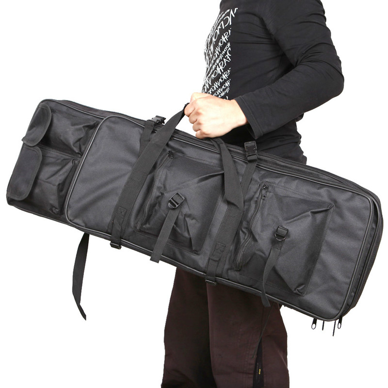 100cm 40 inch Double Pockets SWAT Dual Tactical large capacity Carrying Case bags for Rifle Airsoft