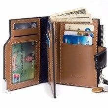 Hombres Cartera Bolso de La Moneda cremallera Monedero Bifold ID Tarjeta de Crédito Titular Top Brand Wallet Bolsillos Regalo de La Promoción