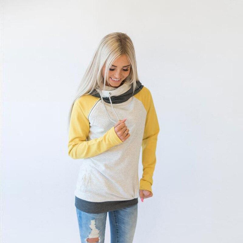 elsvios 2017 double hood hoodies sweatshirt women autumn long sleeve side zipper hooded casual patchwork hoodies pullover femme ELSVIOS 2017  hoodies, Autumn Long Sleeve HTB1URVsXs2vU1JjSZFwqcpXa1