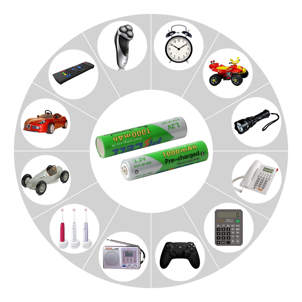 Baterias Recarregáveis aaa ni-mh 1000 mah baterias Definir o Tipo DE : Apenas Baterias