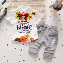 1T-6T High quality Children clothing sets Baby boys t shirts+shorts pants sports suit kids clothes.32