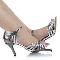 נעלי ריקוד נעלי ריקוד לטיני מבוגרים כסף לנשים במה כיכר ריקוד שלב לטיני עם נעלי משאבות אישה נעלי נשים