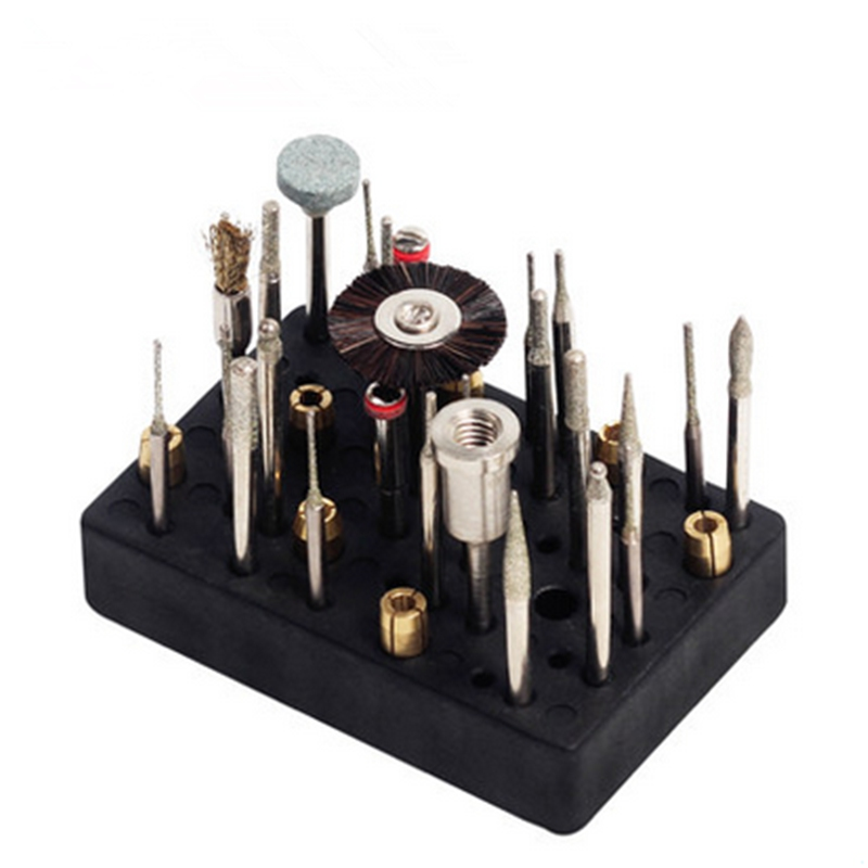 New 48 Holes Electric Drill Bit Storage Block Box Case For Dremel Rotary Tool Accessories