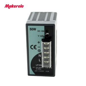 Image 4 - LP Serisi Din Rail tek çıkış anahtarlama güç kaynağı 25 W 50 W 100 W 150 W 300 W 500 W Dijital Ekran 12/24 V ac dc Ce ile onaylaması