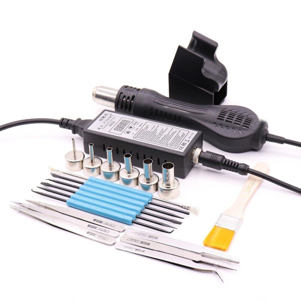 PIGONG8858 110 V 220 V Tragbare Heißluftpistole Rework Solder Station Heißluftgebläse Heißluftpistole Intelligente erkennung und kühlen air