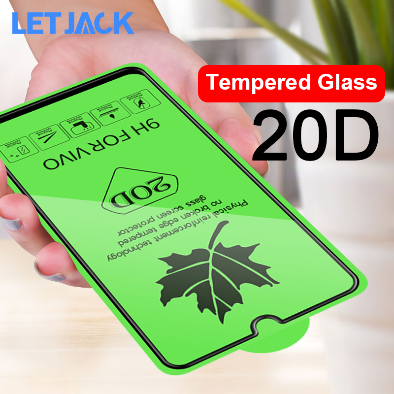 20D Full Cover Protective Glass On The For VIVO V15 Pro X27 NEX2 Y91i Y93 Y97 V11i Y91C Screen Protector Protective Glass Film