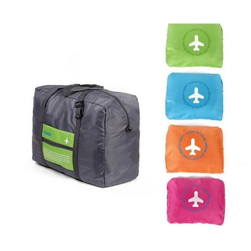 Fashion New Water Proof Travel Bag Nylon Folding Unisex Luggage Travelling Handbags Duffle Bags BVN66