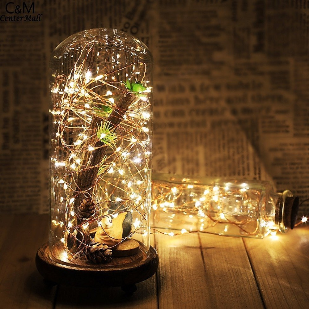 20 White LED Battery Fairy Lights Silver Copper Wire Xmas Wedding Decorations UK