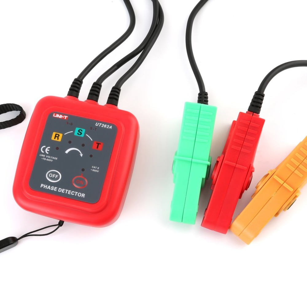 цена UNI-T UT262A Digital Phase Sequence Rotation Detector Phase detector Voltage Clamp Indicator Tester Live Electrical Phase Tester в интернет-магазинах