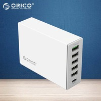 ORICO Type C QC2 0 Quick Charger 6 Ports Charger 5V2 4A 9V2A 12V1 5A Mobile