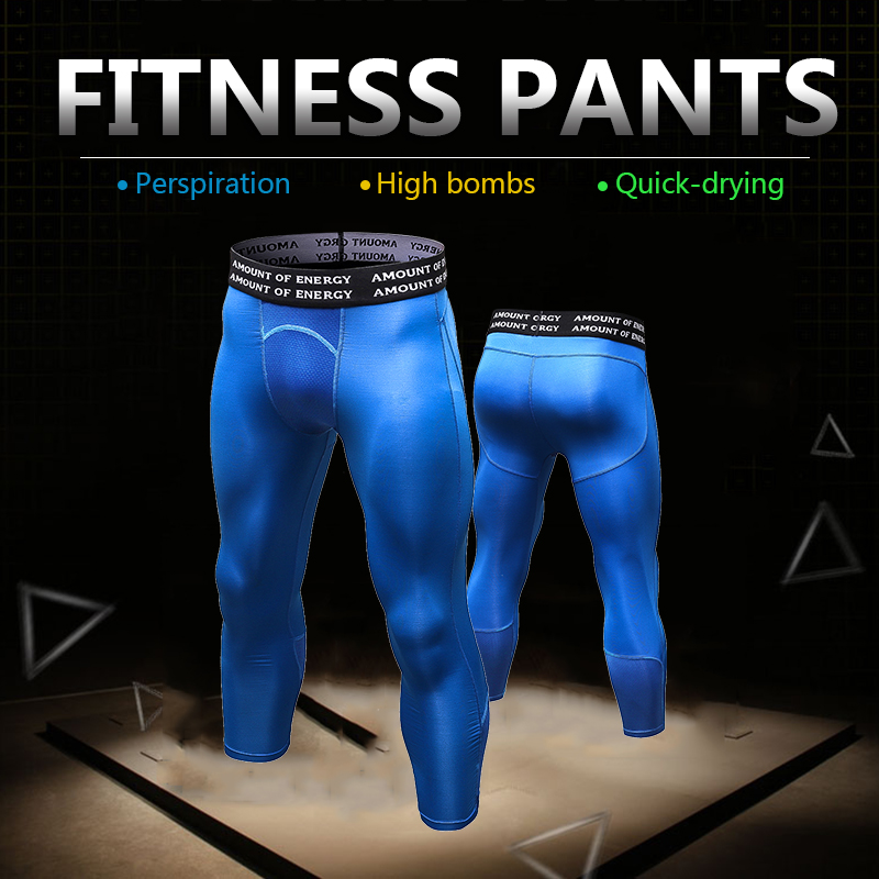 YD New Compression Tight Sport Running Pant Men Jogging Leggings Fitness Gym Clothing Cool Surf Basketball Cycling Sport Legging