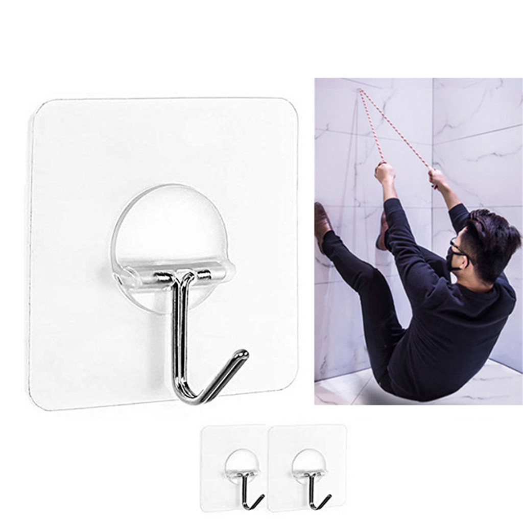 Hanger Strong Transparent Suction Cup Sucker Wall Hooks Hanger For Kitchen Bathroom 2pc Crochet Wall Hook Ventosa Suction Cup