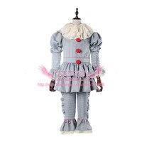 Stephen King's It Pennywise Cosplay Costume Adult Men Women Clown costume suit Custom made fancy Halloween Terror Costume