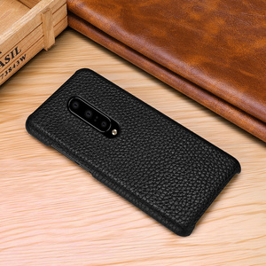 Image 5 - Genuine Leather Case Cover For OnePlus 7 Pro Retro Real Cowhide Leather Ultra Thin Slim Back Cover for One Plus 7 Pro