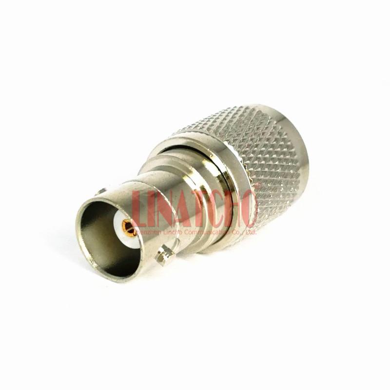 50ohm réz-nikkel-bevonó adapter csatlakozó BNC aljzat és TNC - Kommunikációs berendezések - Fénykép 2