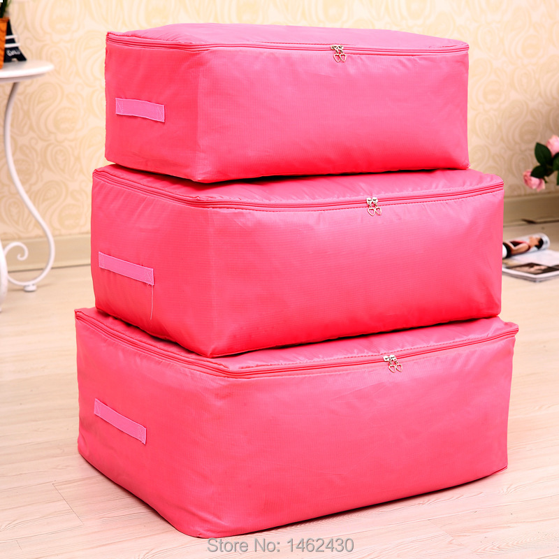 Attractive Colorful Oxford Storage Bags Square Three Dimensional Type Clothes Comforter  Storage Bag 3pcs/set Mix Colors XWP067~069 In Storage Bags From Home U0026  Garden ...