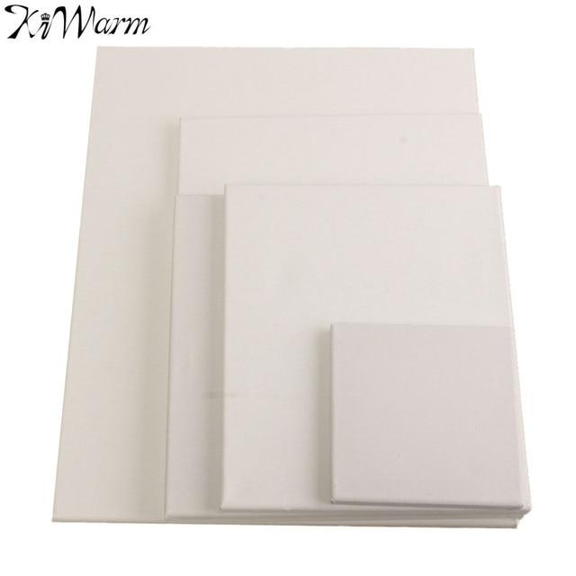 kiwarm 1pc blank canvas wooden board frame artist art board canvas