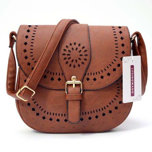 a6ca455858 Online Shop LITSINGWANG Small Casual Women Messenger Bags PU Hollow Out Crossbody  Bags Ladies Shoulder Purse And Handbags Bolsas Feminina