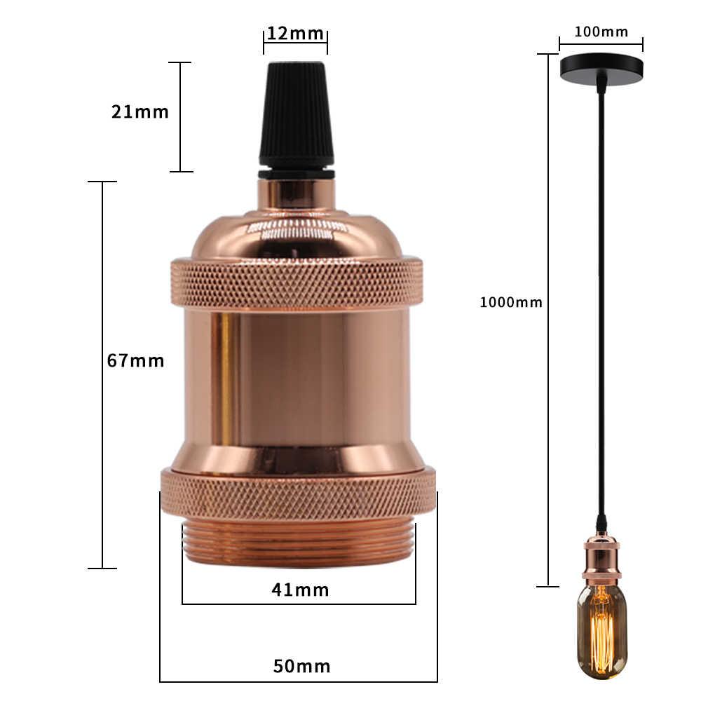 จี้โมเดิร์น Retro Retro E27 110V 220V สายสีสันแขวนไฟ LED สำหรับ VINTAGE EDISON หลอดไฟฐาน Home Decor