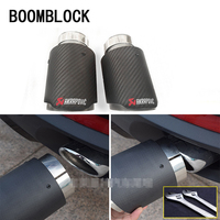 BOOMBLOCK 2Pcs For BMW X5 E70 X6 E71 X1 F48 Accessories M Motorsport Performance Carbon Fiber Akrapovic Car Exhaust Pipe Tips