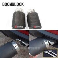 BOOMBLOCK 2Pcs For BMW X5 E70 X6 E71 X1 F48 Accessories M Motorsport Performance Carbon Fiber Akrapovic Car Exhaust Pipe Tips