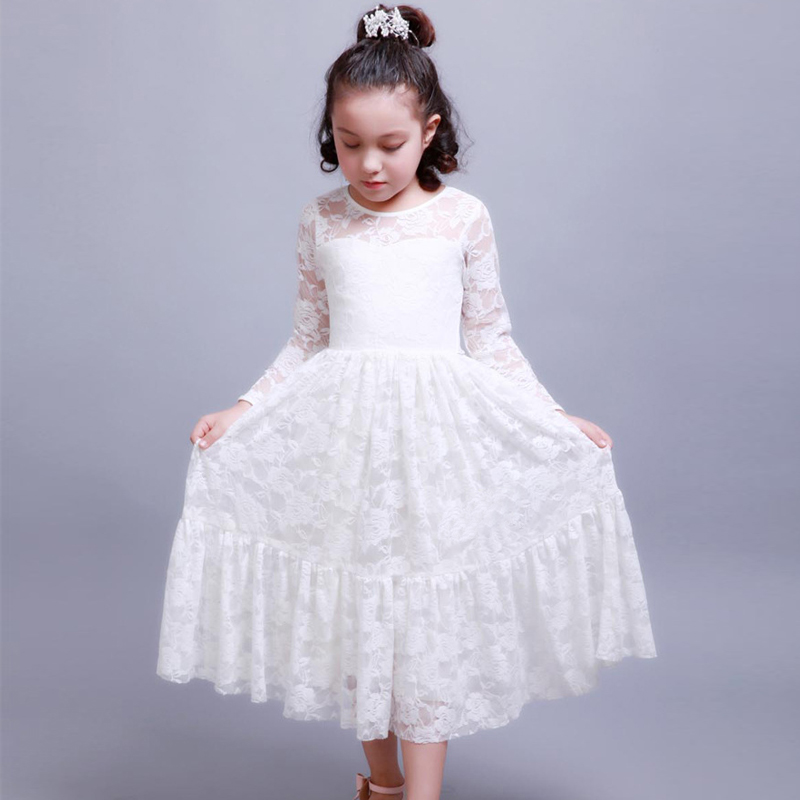 2780a0fe12d5 Kid Clothes Girl Size 2 To 5 6 7 8 9 10 11 Years Children Summer Clothes  Lace Birthday Princess Dress Girls Long Sleeve 2018 - aliexpress.com -  imall.com