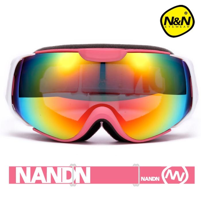 Prix pour NANDN Ski lunettes double UV400 anti-brouillard grand masque de ski lunettes de ski hommes femmes neige snowboard gogglesNH8003