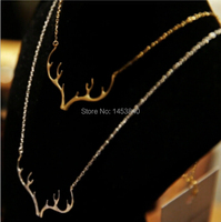 New Listing Antlers Pendant Necklace Tree Branch Necklace 12 Pcs/Lot ( Gold and Silver 2 Colors Free Choice and Collocation)