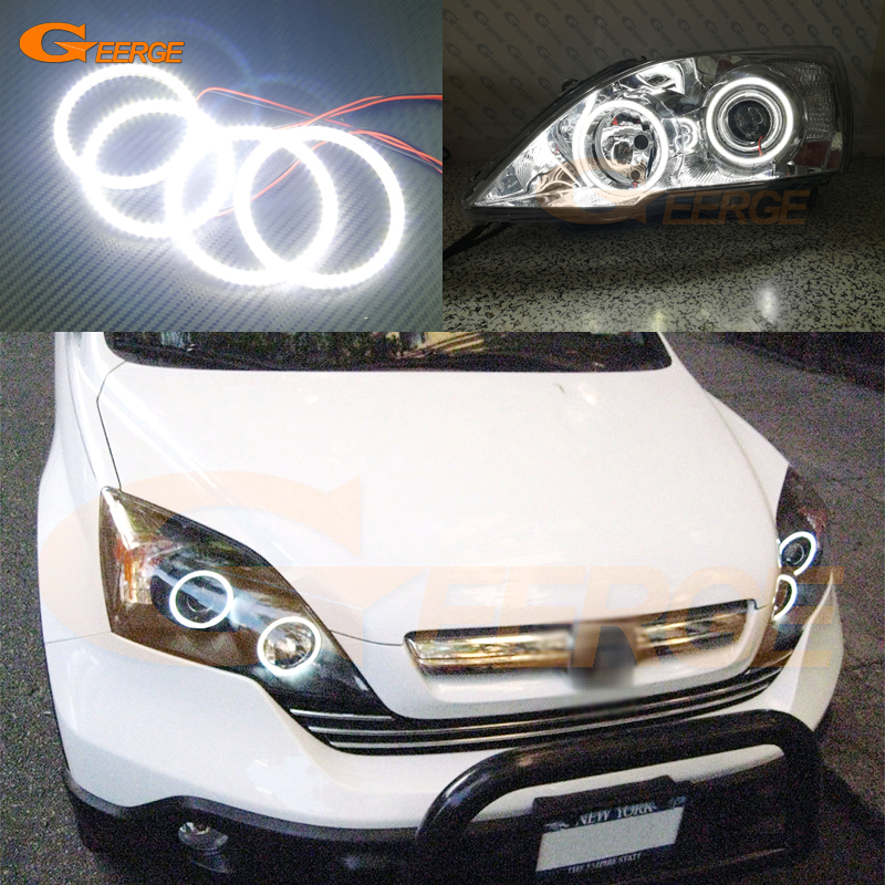 For HONDA CR-V CRV 2007 2008 2009 2010 2011 PROJECTOR HEADLIGHTS Excellent Ultra bright smd led Angel Eyes Halo Ring kit