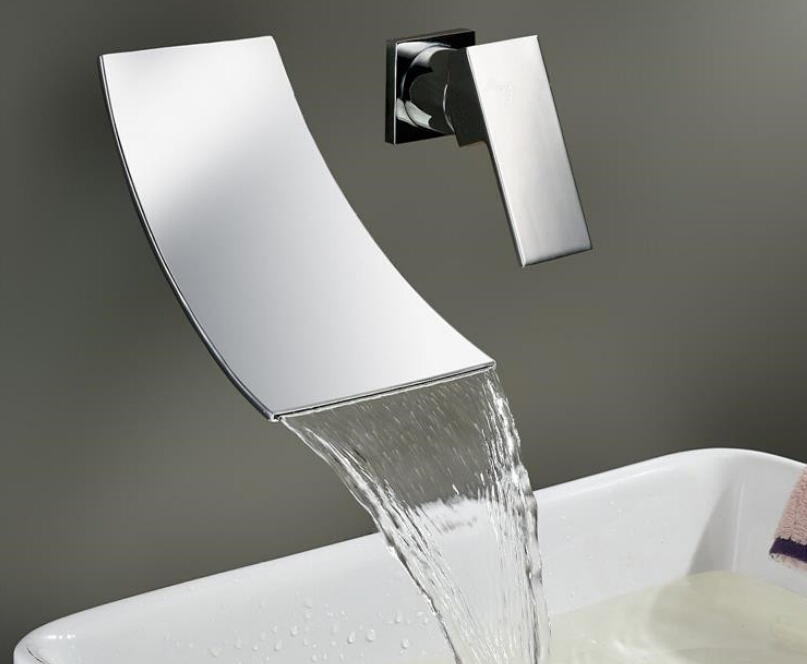 Bathroom Basin Faucet Chrome Brass Spout Vanity Sink Mixer