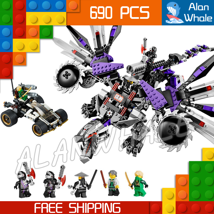 690pcs Bela 10224 Ninja Nindroid Mech Dragon Building Blocks Set Toys Compatible With lego Christmas Gifts happy baby манеж alex happy baby