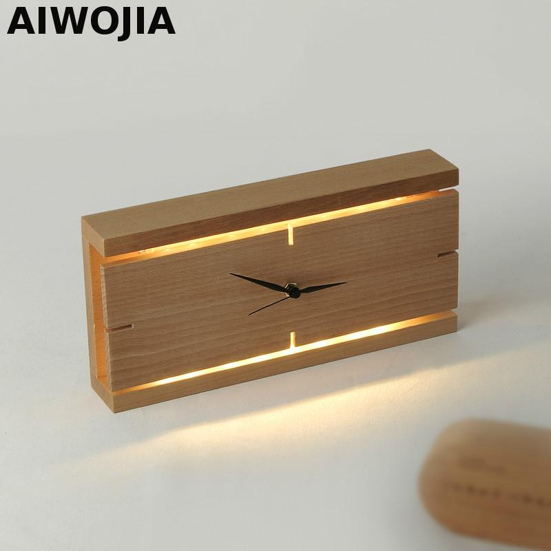 Wooden clock Table Lamp Appliques Luminaires Murales Lights For Bedroom Led Sconce Indoor Lighting Table Lamp For BedroomWooden clock Table Lamp Appliques Luminaires Murales Lights For Bedroom Led Sconce Indoor Lighting Table Lamp For Bedroom