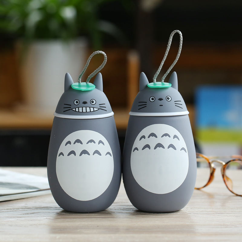 2016 new totoro thermos water bottle cute children adult termos drinkware stainless steel vacuum cup