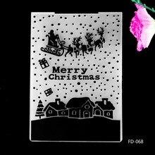 2017 New Arrival Scrapbook  Christmas deers Design DIY Paper Cutting Dies Scrapbooking Plastic Embossing Folder