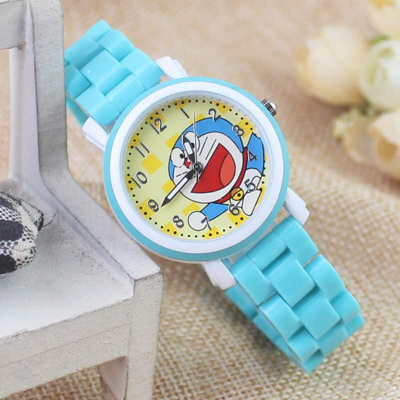 Dora A Dream Cartoon Leisure Fashion New Male And Female General Child Child Student Tinkling Cat Watch