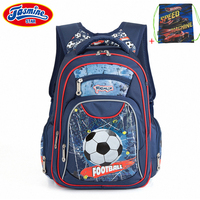 JASMINESTAR Children School Bags For Teenagers Boy Large Capacity Orthopedic Kids Football School Backpacks Schoolbags For