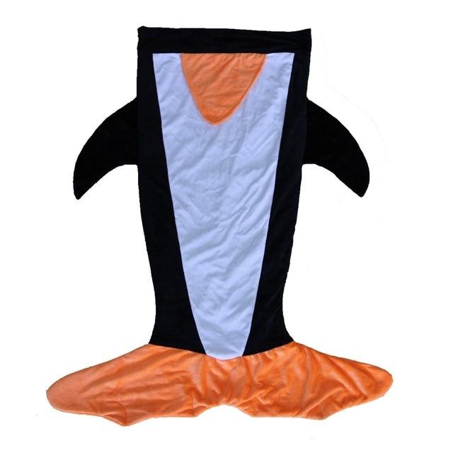 Cartoon penguin sleeping bags newborn baby carriage winter bedding warm pretty Sleep sacks cotton soft blanket Warm Swaddle H532