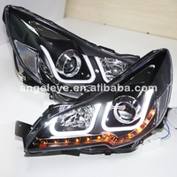 2010 2013 год для Subaru Outback LED U Стиль Ангельские глазки фары с bi xenon projectoe объектива LD