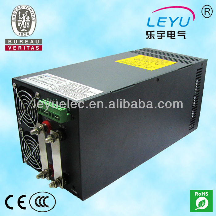 Chinese supplier LEYU SCN-1200-5 ac dc single output high power with Parallel Function switching power supply high power series compact size and light weight scn 1000 12 with parallel function 1000w power supply