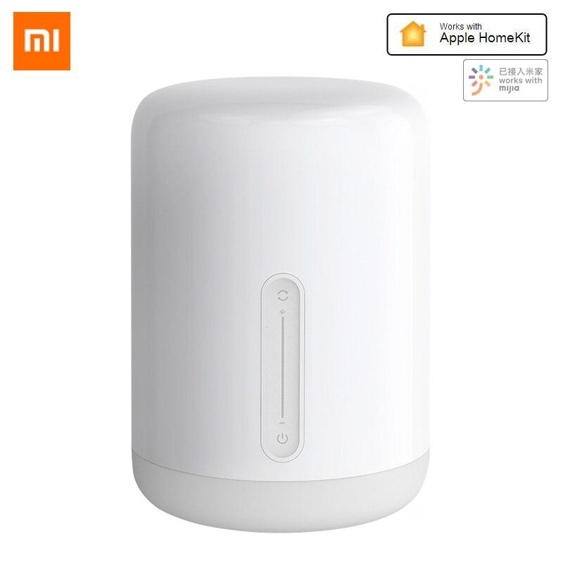 Lampe de chevet originale Xiao mi mi jia 2 mi lampe de chevet intelligente lit intérieur lumière couleurs changeantes connexion sans fil Apple HomeKit APP