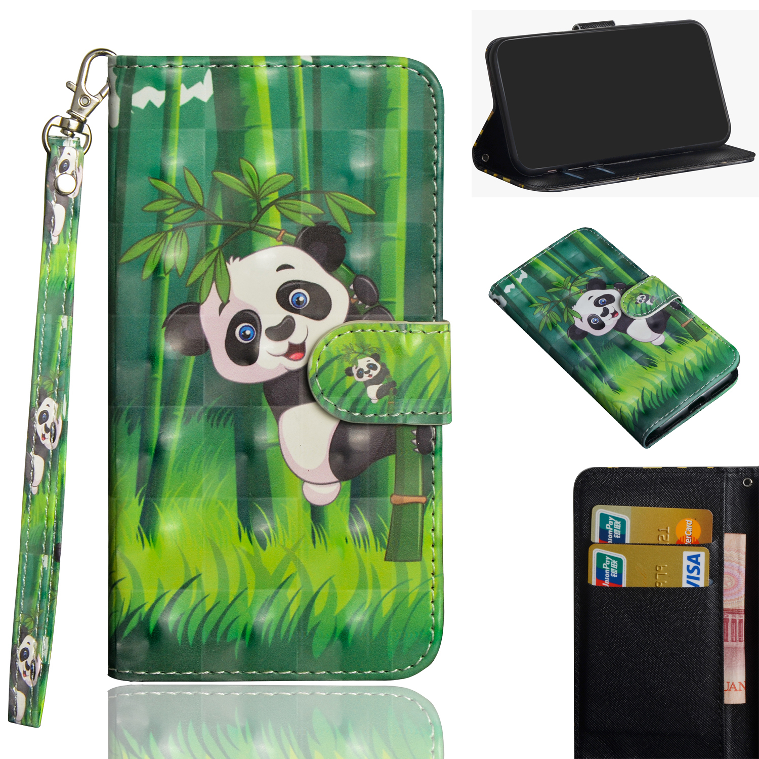 Fashion Clamshell Wallet Case for Xiaomi Max 2 4X 5X 5A Note 5 Pro Note 5AA2 Clamshell Wallet 3D Case Wallet Holder Phone Case in Flip Cases from Cellphones Telecommunications